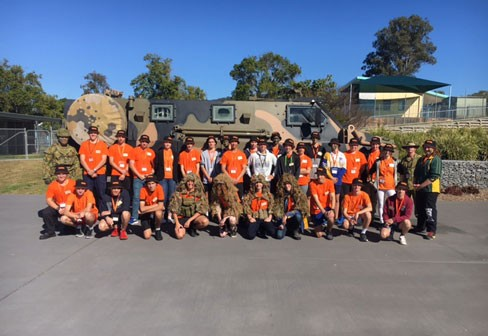 Students involved in Army work experience